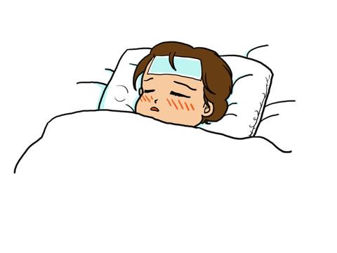 インフルエンザでの発熱